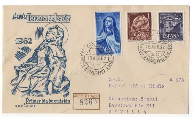 Santa Teresa de Jesús. Font: Filostamp (blog de Rafael Llácer Riaño)