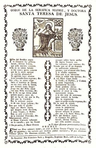 Gozos de la seráfica madre..., Barcelona: Francesc Surià, s. a. (a)