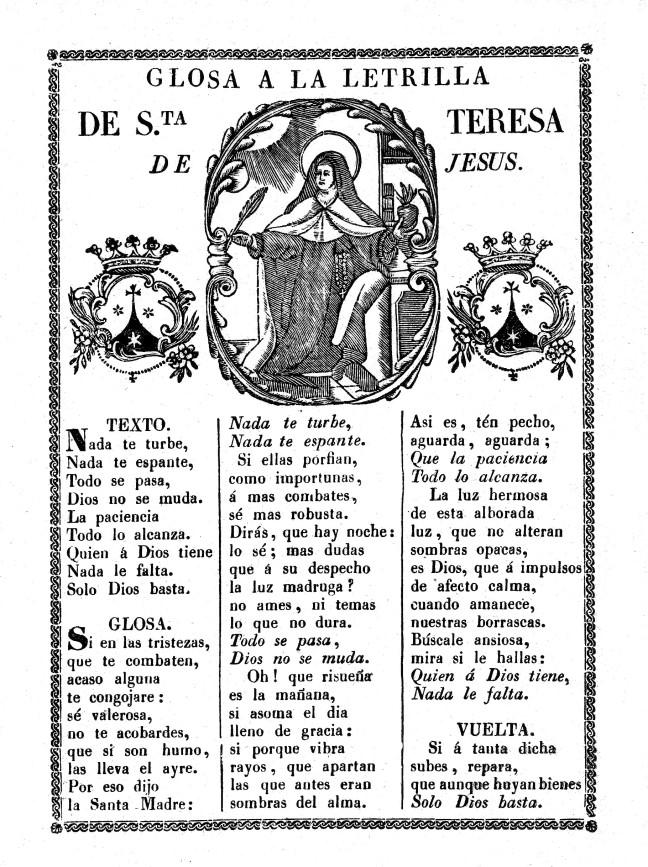 5 Teresa letrilla 1790c glosa