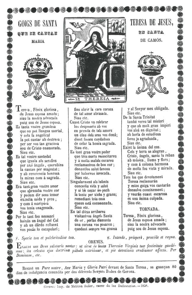 Teresa goigs 1858 Camos si