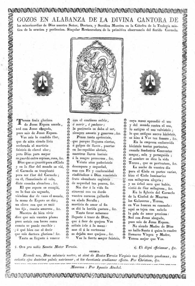 Teresa gozos 1813-72c Abadal AdG