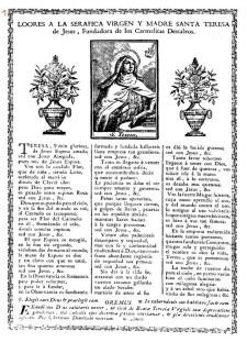 Teresa loores fundadora entre 1750 i 1830] UV c