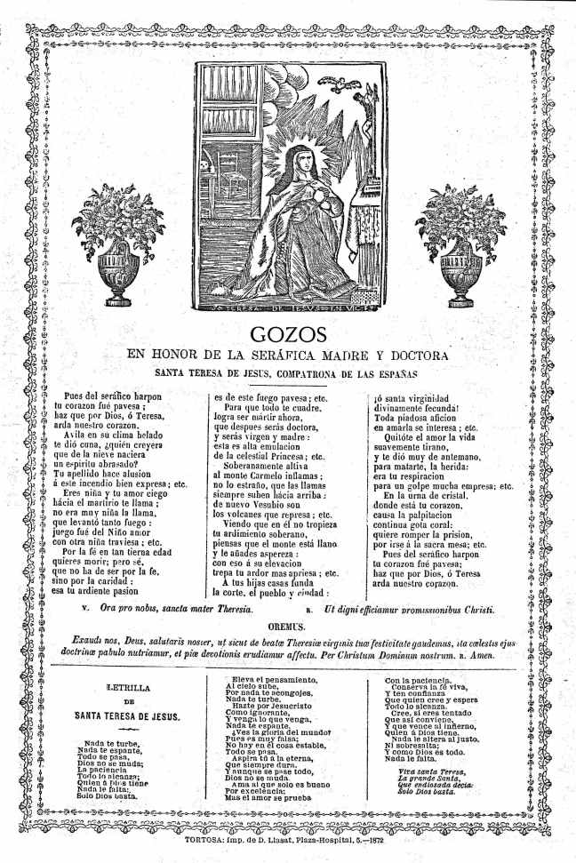 19 Teresa gozos 1872 Tortosa