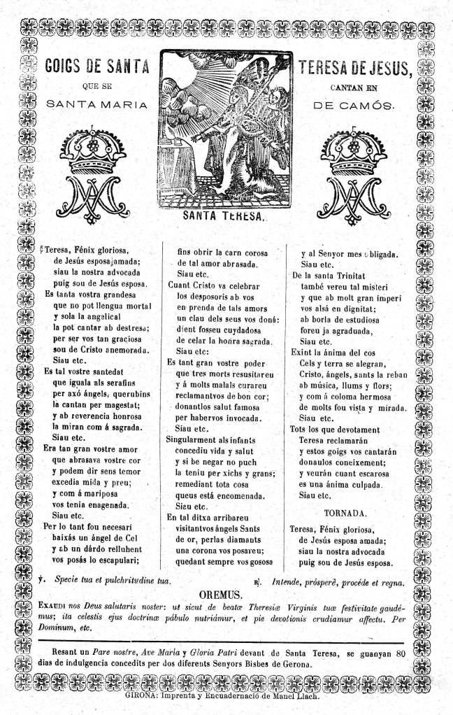 Teresa goigs 1899c Girona-Camos AdG