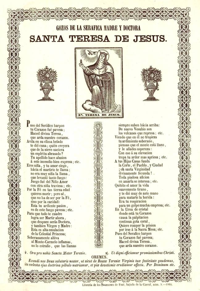 Teresa gozos 1864 Succ Font