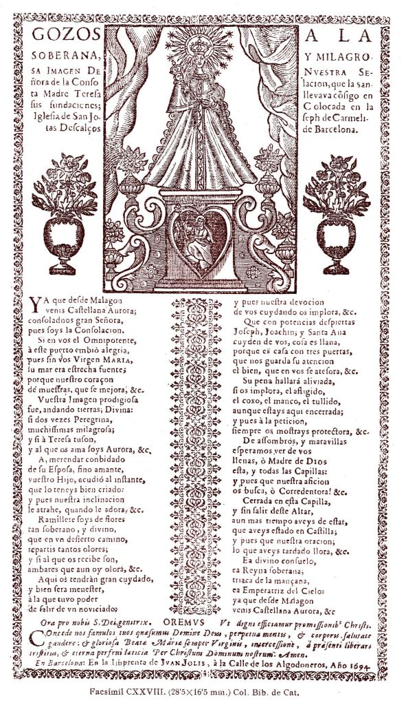 Consolacion gozos 1694
