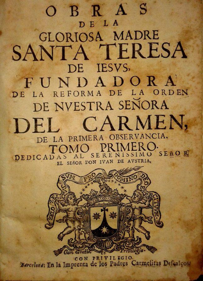 Obres Sta. Teresa. Carmelites descalÁos c.1725
