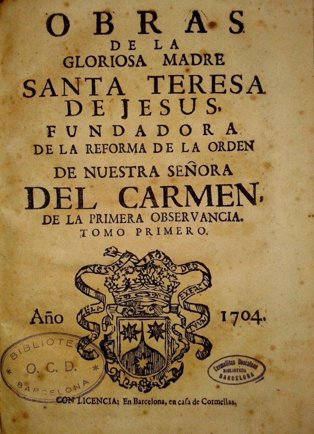 Obres Sta. Teresa. Cormellas, 1704