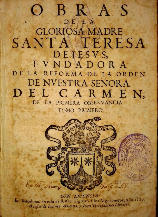 Obres Sta. Teresa. Rafael Figueró, 1680