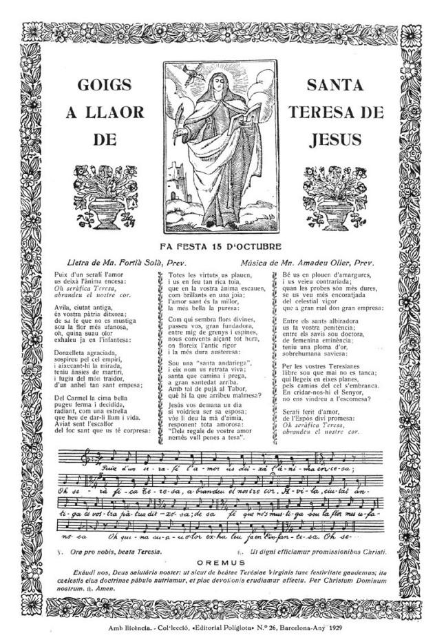 Teresa goigs 1929 Poliglota