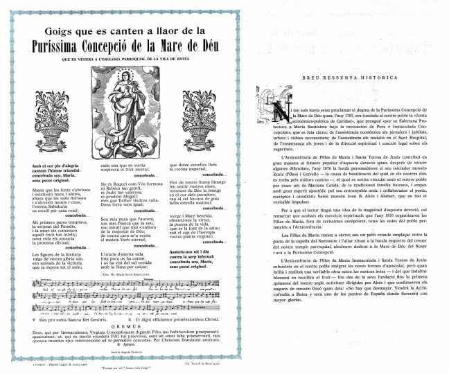 Concepció goigs 1966 Batea a