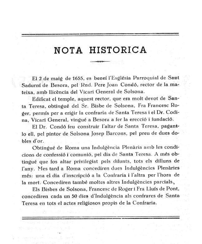Teresa goigs 1961 Besora b