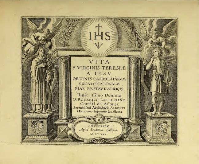 Vite sanctae virginis Teresiae a Iesu 1630